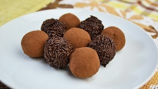 How to Make Chocolate Truffles - Easy Dark Chocolate Truffles Recipe