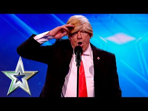 Donald Trump impersonator escorted from stage! | Ireland's Got Talent (видео)