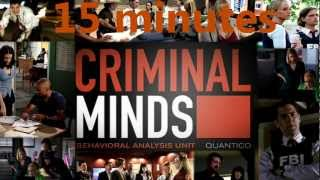 15 minutes : CRIMINAL MINDS Opening/Main Theme Soundtrack (HQ)