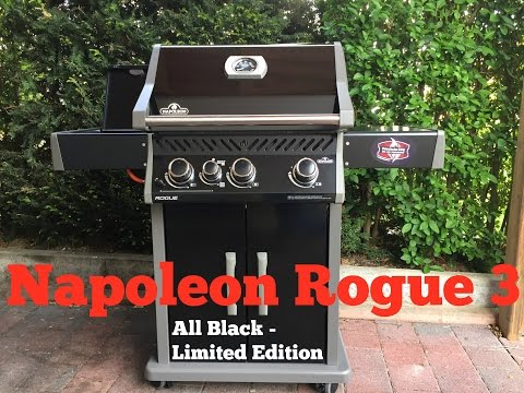 Napoleon Rogue 3 Gasgrill - All Black Limited Edition