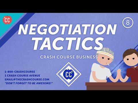 How to Become a Better Negotiator: Crash Course Business - Soft ...