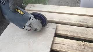 How to cut 600x600x20mm porcelain paving tile.