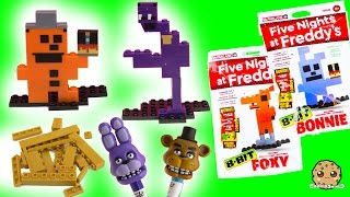 Complete Set Of Five Night's At Freddy's 8-Bit Figures + Bonus Golden Freddy