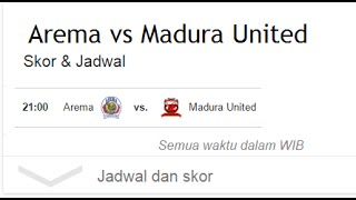 Hasil Akhir Arema Cronus VS Madura United 2 September 2016 2 1