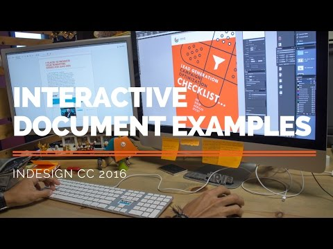 Interactive Document Examples – Adobe InDesign CC