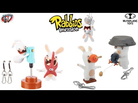 Rabbids Invasion Sound & Action Figure 2 Pack Toy Review, McFarlane Toys