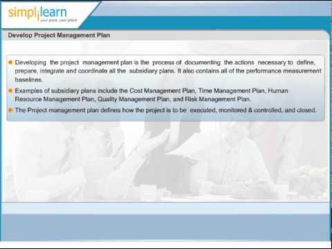Develop Project Management Plan | PMP Certification Training Online