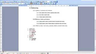 AM 3.1.2.3 Outline Numbering lists Microsoft Word 2003