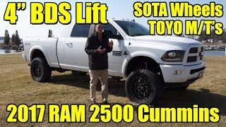 "LIFTED 2017 Ram 2500 MEGA Cab!! 4"" BDS Lift, Fenders, SOTA Wheels, Toyo MT's!  Cummins Diesel!"