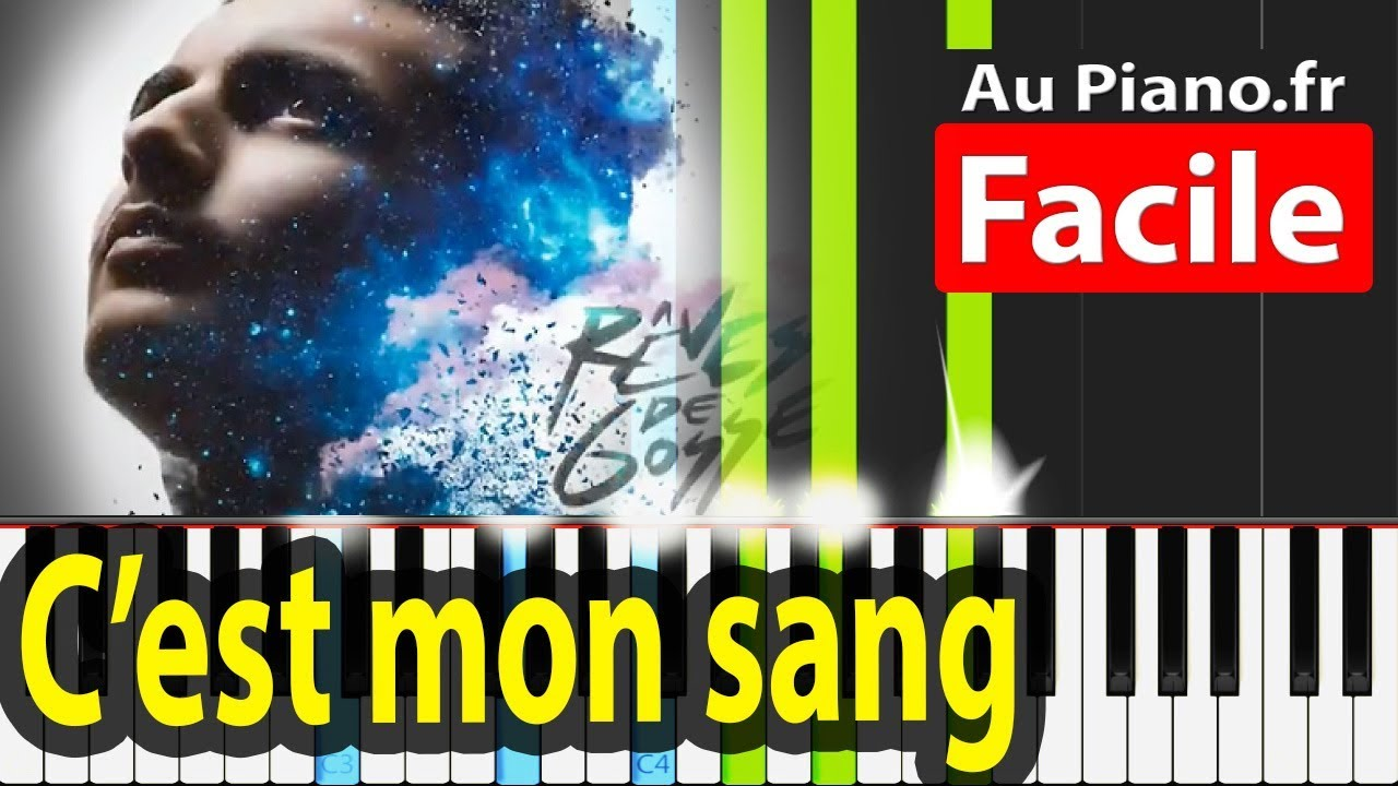 RK ft Sofiane - Cest mon sang Piano Tuto Facile Instru Paroles
