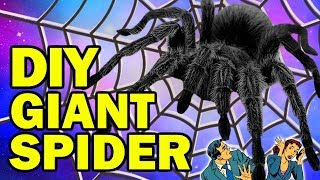 DIY Giant Spider AKA Aragog AKA HARRY POTTER HALLOWEEN BIT*HES!