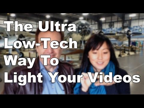 How to get awesome ultra low tech lighting for video blogging