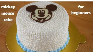 MICKEY MOUSE CAKE | EASY DECORATION | FOR BEGINNERS