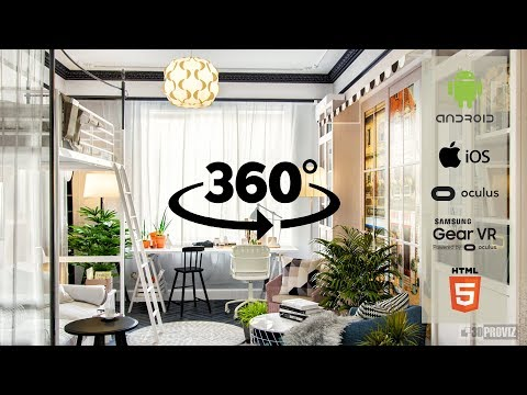 Visualization flat Ikea 3d panorama. 3D Max, Corona