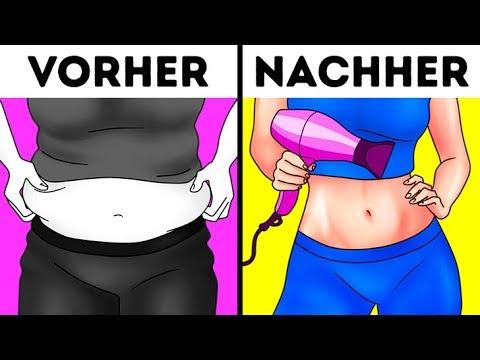 Wie den Bauch der wie bei der Schwangeren zu entfernen