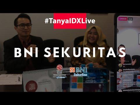 Tanya IDX Live bersama BNI Sekuritas