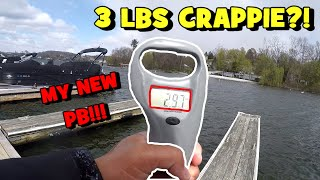 3LBS BLACK CRAPPIE?! The BIGGEST I Have CAUGHT IN MY LIFE!!!