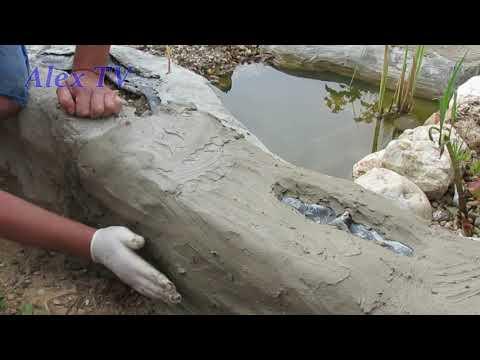 Gartenteich Ideen. Bachlauf selber bauen. Ufer . Video 2.