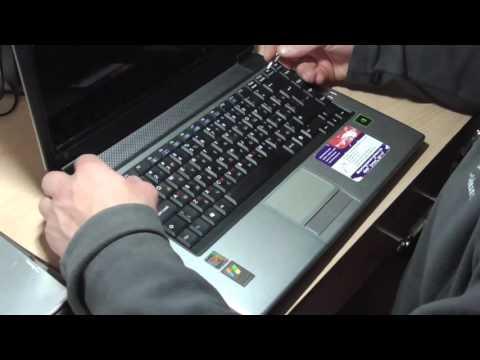 Замена батарейки CR2032 на ноутбуке RoverBook Pro 500WH