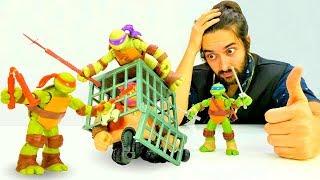 Черепашки Ниндзя - Куда пропал Микеланджело? – Видео с игрушками.