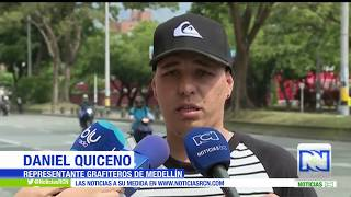 Tres grafiteros mueren arrollados en metro de Medellín