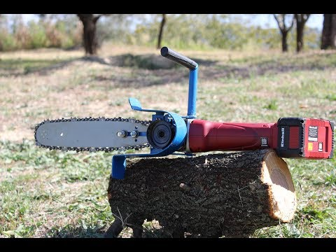 smerigliatrice motosega fai da te (homemade angle grinder chain saw)
