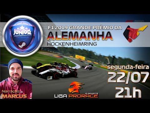 F1 2019 ESPORTS | GRANDE PRÊMIO DA ALEMANHA 2019 | F1 2019 PC JUNIOR | LIGA PRO RACE ESPORTS