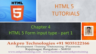 HTML 5 - Chapter 4 - HTML 5 Form input types color,  week, datetime, number- part 1