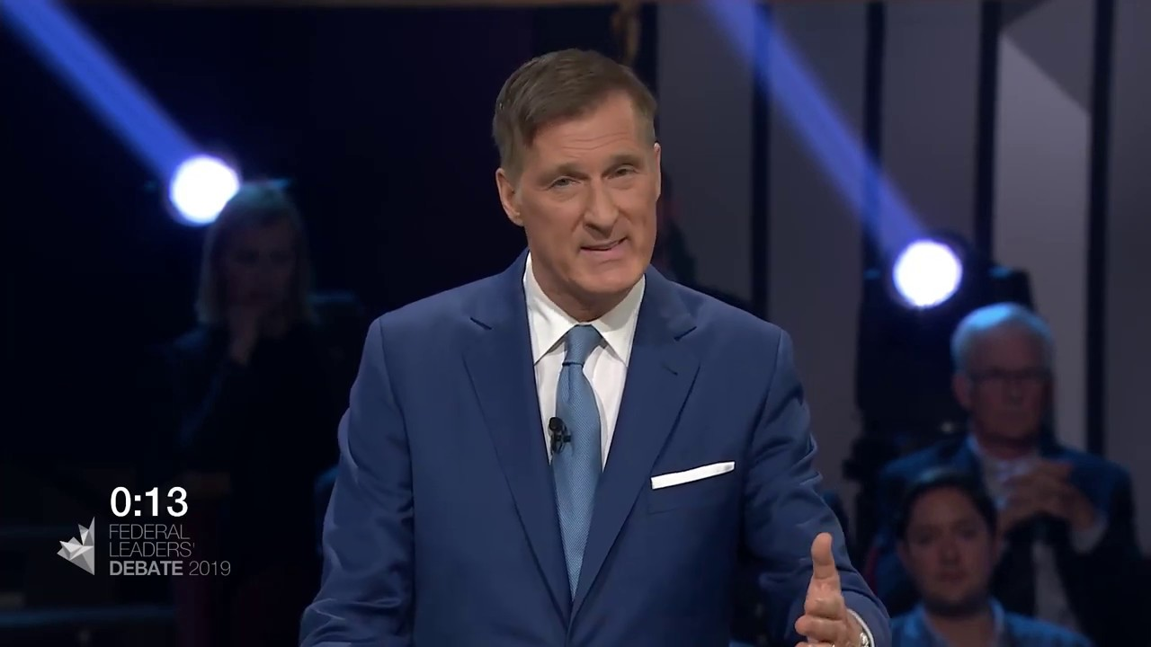 Maxime Bernier answers a question about working with the provinces