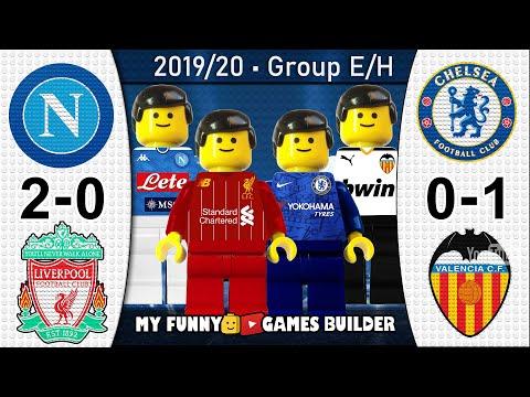 Napoli vs Liverpool 2-0 • Chelsea vs Valencia 0-1 • Champions League Goals Highlights Lego Football