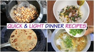 3 Quick & Light Dinner Recipes | Paneer Pulav Sattu Parantha Moong Dal | CookWithNisha