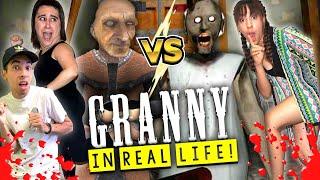 Granny Horror Game In Real Life! - Grandpa vs. Granny!