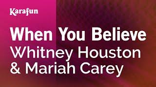 Karaoke When You Believe   Whitney Houston *