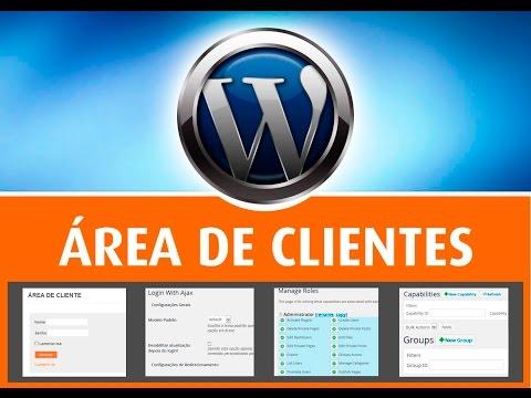 CURSOS Área de Cliente – WordPress – Passo a passo – Plugins Login Ajax – Role – Groups