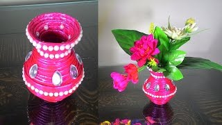 How to make newspaper flower vase | DIY newspaper crafts