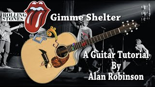 Gimme Shelter - Rolling Stones  - Acoustc Guitar Lesson (2021 version Ft. my son Jason on lead etc.)