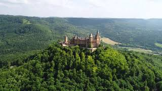 Videoblocks hohenzollern castle germany aerial fpv drone flights hf5dggiax 1080 D