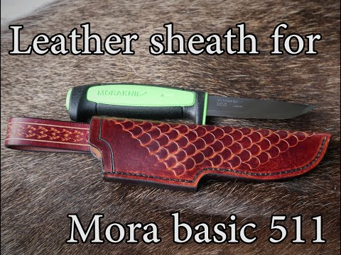 I made a Leather Sheath for a Mora Basic