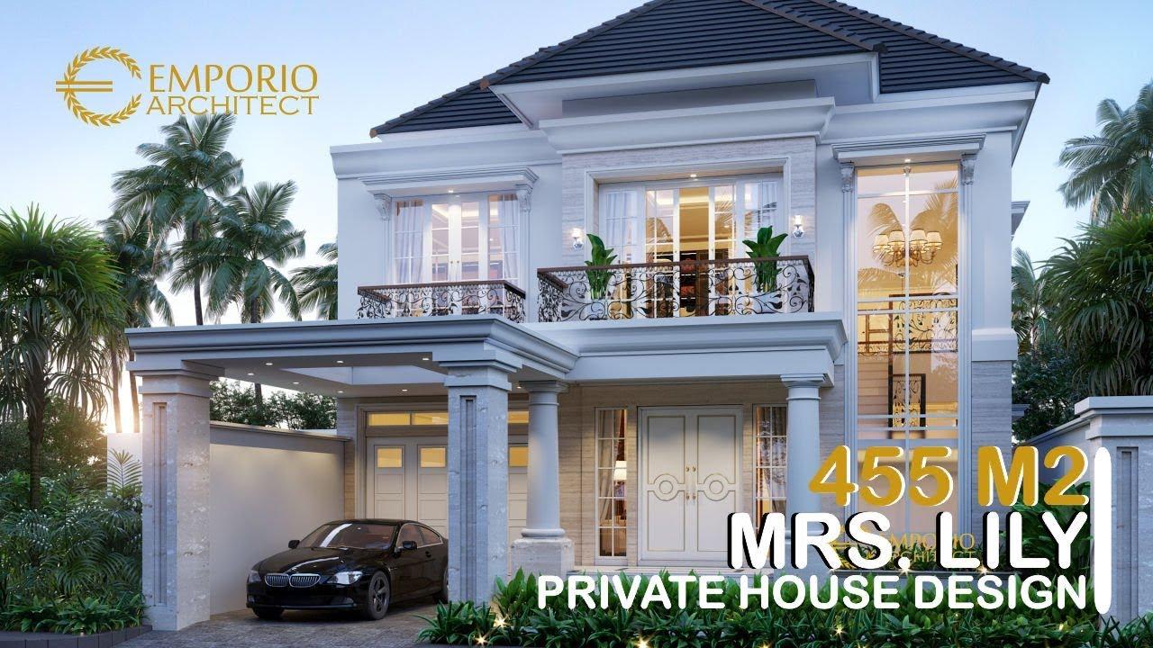 Video 3D Desain Rumah Classic 2 Lantai Ibu Lily di Palembang
