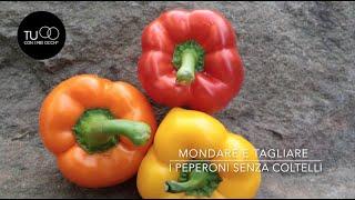Mondare e tagliare i peperoni senza coltelli