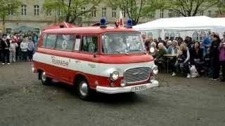 preview picture of video 'Barkas B1000 Feuerwehr-KK beim DDR Museum Pirna'