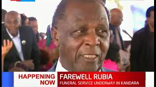 HAPPENING NOW: Farewell Charles Rubia, Nairobi's 1st African Mayor funeral service underway