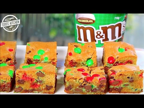 M&M COOKIE BARS – Easy Christmas desert recipe