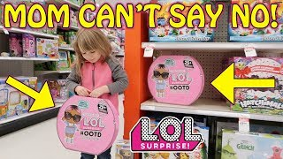MOM CAN'T SAY NO! SHOPPING FOR L.O.L. SURPRISE #OOTD ADVENT CALENDAR!