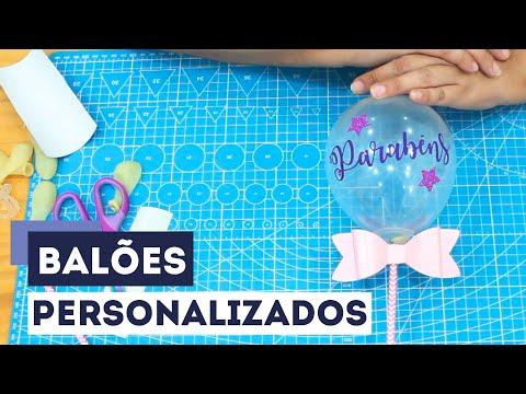Balão Personalizado - Como Cortar Vinil na Plotter de Recorte com Arquivo FREE