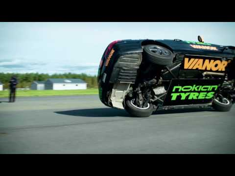 Nokian Tyres: The fastest side wheelie in a car: Watch the Guinness World Record Fastest side wheelie in a car!