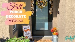 FALL PORCH DECOR | DECORATE WITH ME | OUTDOOR FALL DECOR 🍁✨