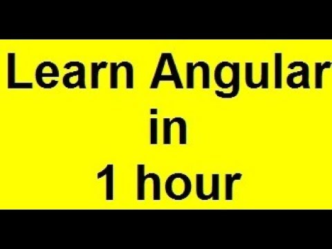 Angularjs Tutorial (Covering Angular 9) - YouTube