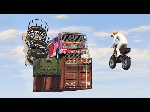 BASKETBALL HOSE TRUCKS BOMBING! (GTA 5 Funny Moments)