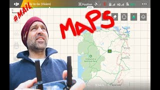 How to get DJI Go4 App DRONE Maps without Internet //#MAIL- 87